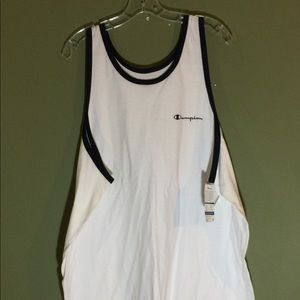 Champion XL NWT all cotton sleeveless white Tank